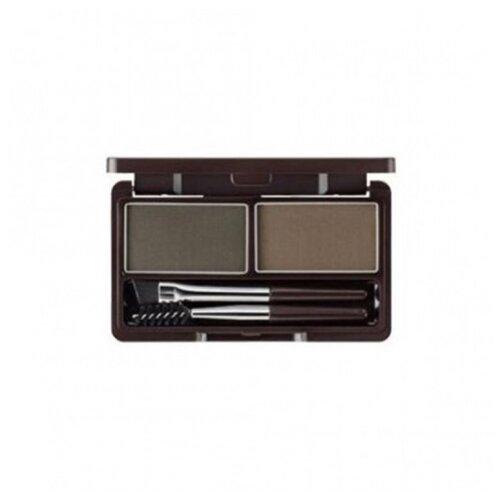 The Saem Eco Soul Eyebrow Kit 02 gray brown