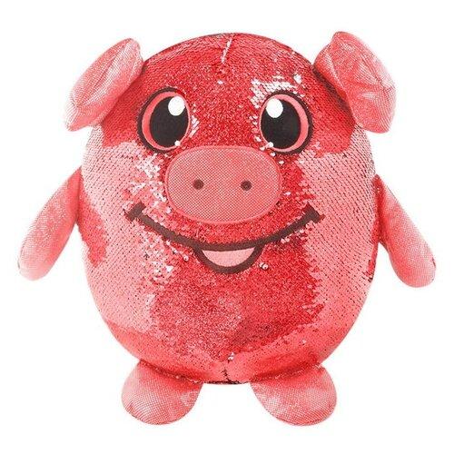 Купить Мягкая игрушка Beverly Hills Teddy Bear Шиммиз Свинка в пайетках 20см, Beverly Hills Teddy Bear Company, Мягкие игрушки