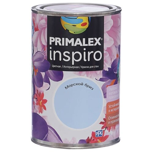 Краска PRIMALEX Inspiro моющаяся матовая морской бриз 1 л