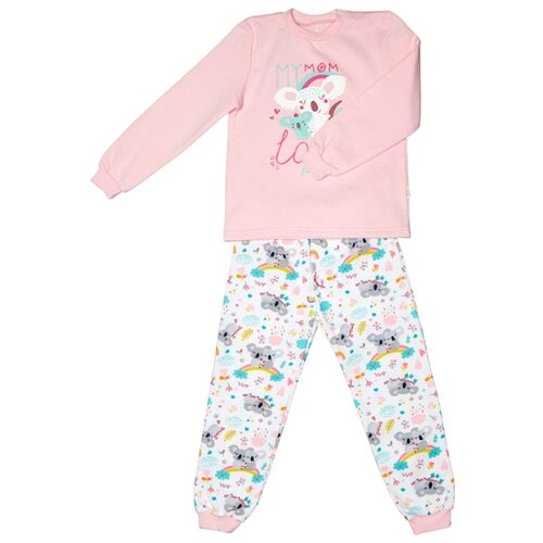 Пижама Веселый Малыш размер 116, розовый пижама веселый малыш размер 104 розовый