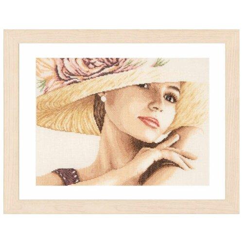 Купить Lanarte Набор для вышивания Lady with Hat 36 х 28 см (PN-0168602), Наборы для вышивания