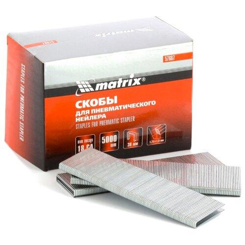 Скобы matrix 57667 для степлера, 38 мм скобы для степлера matrix 57652