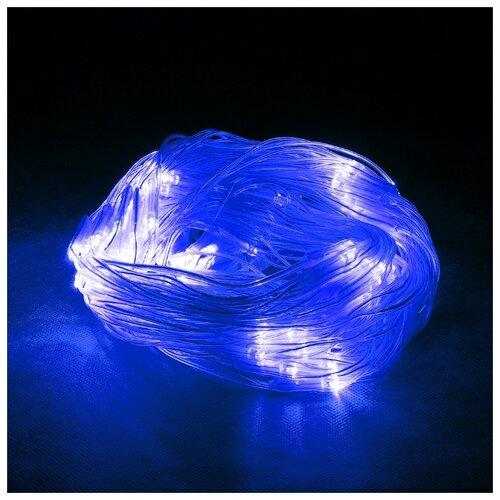 Гирлянда Vegas Сеть световая 55030-34 (150 x 120 см), 144 ламп, синий/прозрачный провод недорого