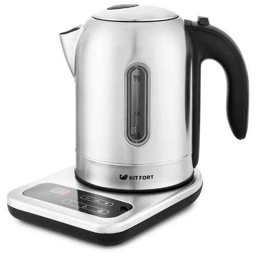 Чайник Kitfort KT-658, серебристый чайник электрический kitfort kt 658