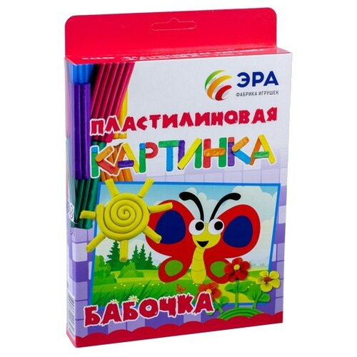 Купить Пластилин Эра Пластилиновая картинка Бабочка (С-382), Пластилин и масса для лепки