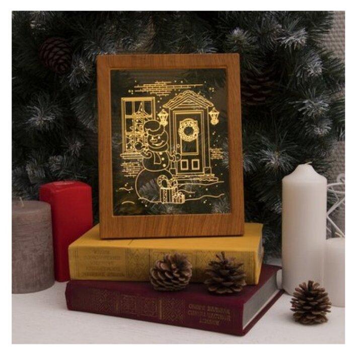 "Рамка светящаяся Luazon Lighting ""Снеговик"" 13, 5*17 см, USB, 5V, 10 LED, RGB"