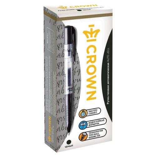 Купить CROWN Набор гелевых ручек Auto Jell, 0.7 мм, 12 шт, черный цвет чернил, Ручки