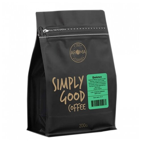 Кофе в зернах Aroma Бейлиз ароматизированный арабика 200 г.