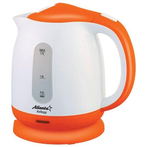 Чайник Atlanta ATH-2371, оранжевый весы кухонные atlanta ath 6215 красный