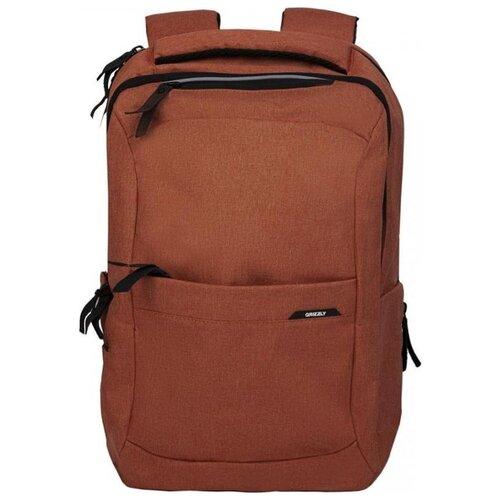 Рюкзак Grizzly RQ-001-1/3 (кирпичный) рюкзак grizzly rq 905 1