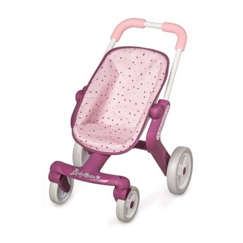 Прогулочная коляска Smoby Baby Nurse 251203 белый/розовый/фиолетовый коляска для кукол smoby baby nurse прогулочная 24063