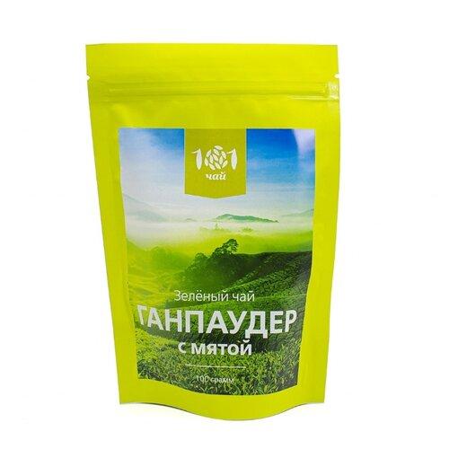 Чай зеленый 101 чай Ганпаудер с мятой , 100 г фото