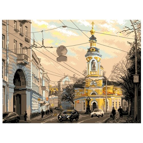 Москва, ул. Солянка Рисунок на канве 37/49 37х49 (30х40) Матренин Посад 1800