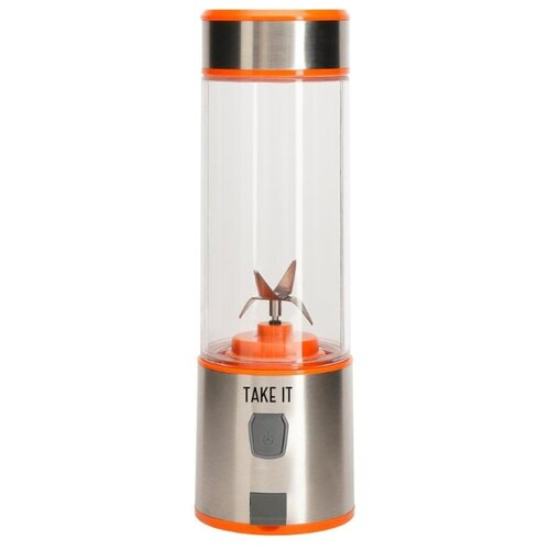 Портативный блендер Take It X4, оранжевый/серебристый