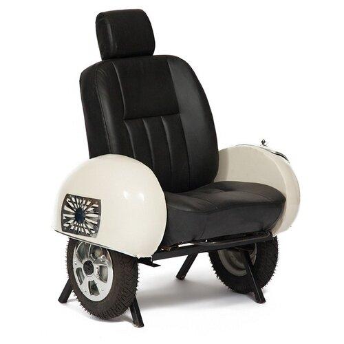Дизайнерское кресло TetChair Secret De Maison Scooter (mod. TC-2) размер: 110х88 см, обивка: искусственная кожа, цвет: слоновая кость/черный