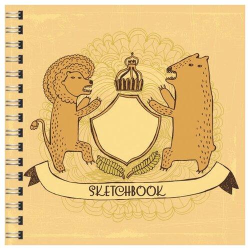 Купить Скетчбук с твердой обложкой Королевский герб , 80 листов, Paper Art, Альбомы для рисования