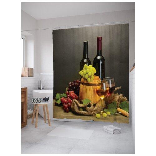 Штора для ванной JoyArty Вино и спелый виноград 180х200 (sc-14843) вино виноград painted faces