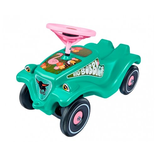 Каталка-толокар BIG Bobby Car Classic Tropic Flamingo (56118) зеленый каталка толокар orion toys мотоцикл 2 х колесный 501 зеленый