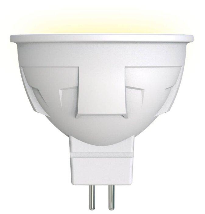 Лампа светодиодная Uniel LED-JCDR 6W/WW/GU5.3/FR PLP01WH, GU5.3, JCDR, 6Вт — купить по выгодной цене на Яндекс.Маркете