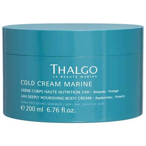 Крем для тела Thalgo Cold Cream Marine глубоко питательный для очень сухой и чувствительной кожи, банка, 200 мл крем для тела thalgo indoceane silky smooth cream объем 150 мл