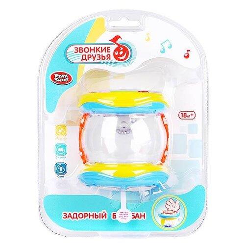 Купить Play Smart барабан Задорный барабан 7695 желтый/голубой, Детские музыкальные инструменты