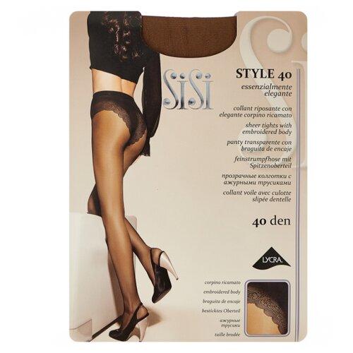 Колготки Sisi Style 40 den, размер 5-MAXI XL, naturelle (коричневый) колготки sisi miss 15 den размер 5 maxi xl naturelle коричневый