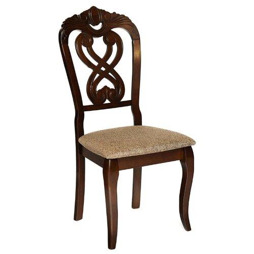 Комплект стульев TetChair Andromeda мягкое сиденье, дерево/текстиль, 2 шт., цвет: темный орех/коричневый