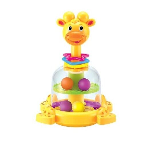 Юла-карусель Junfa toys Жирафик (SL83058) желтый игрушка chuc юла