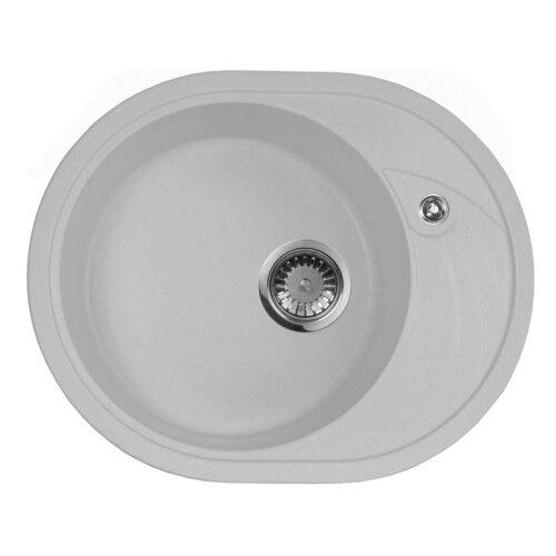 цена на Врезная кухонная мойка 57 см А-Гранит M-18L M-18L(310) серый