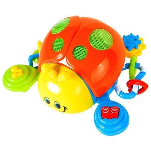 Развивающая игрушка Play Smart Божья коровка оранжевый/желтый игрушка пластмассовая каталка вертолет play smart pac 28х15х10 см арт 1192