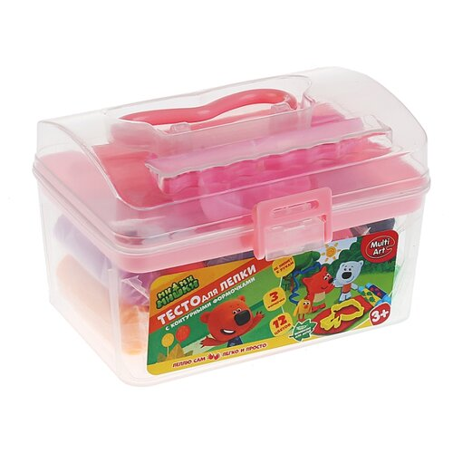 Купить Масса для лепки MultiArt МимиМишки 12 цветов по 21 г (2118-MIMI (72)), Пластилин и масса для лепки