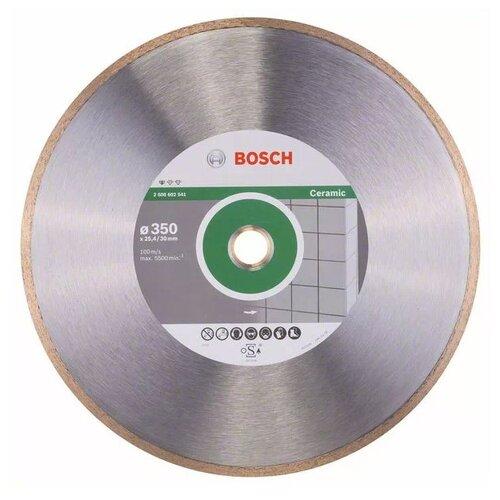 Фото - Диск алмазный отрезной BOSCH Standard for Ceramic 2608602541, 350 мм 1 шт. диск алмазный отрезной bosch standard for universal turbo 2608602395 150 мм 1 шт