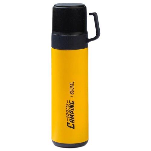 Классический термос TUNDRA Кемпинг, 0.6 л желтый
