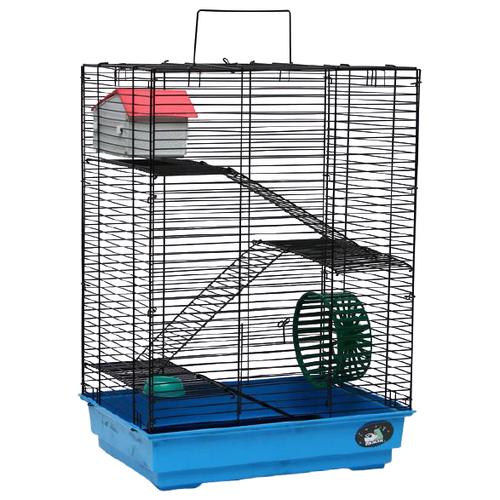 Клетка для грызунов Пижон №5 41х30х58 см голубой