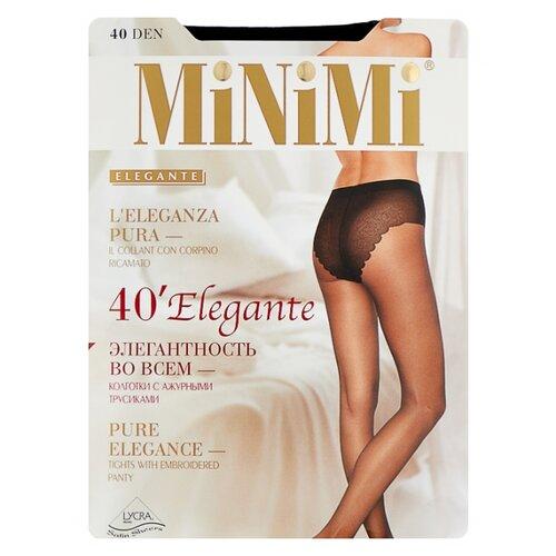 Колготки MiNiMi Elegante 40 den, размер 2-S/M, nero (черный) колготки minimi control top 40 den размер 2 s m nero черный
