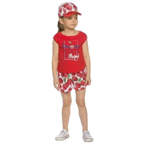 цена на Комплект одежды Pelican размер 4, красный