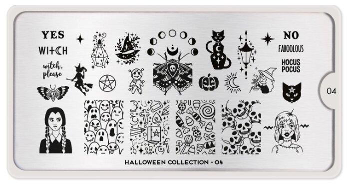 Трафарет MoYou London Halloween №04 12.5 х 6.5 см