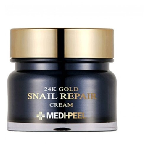 MEDI-PEEL 24K Gold Snail Cream разглаживающий крем для лица с золотом и муцином улитки, 50 г farmstay маска пленка 24k gold snail peel off pack с золотом и муцином улитки 100г
