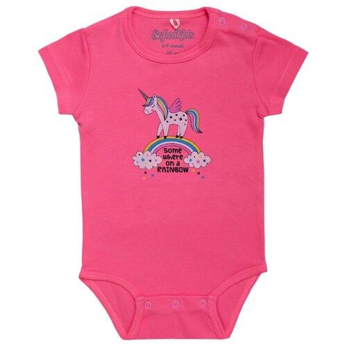 Боди SafariKids размер 74, ярко-розовый брюки safarikids best kid размер 92 розовый