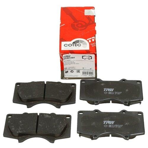 Дисковые тормозные колодки передние TRW GDB3364 для Lexus, Mitsubishi, Toyota (4 шт.)