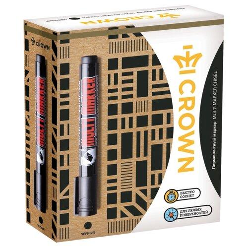 Купить CROWN Набор черных перманентных маркеров Multi Marker, 12 шт. (CPM-800), Маркеры