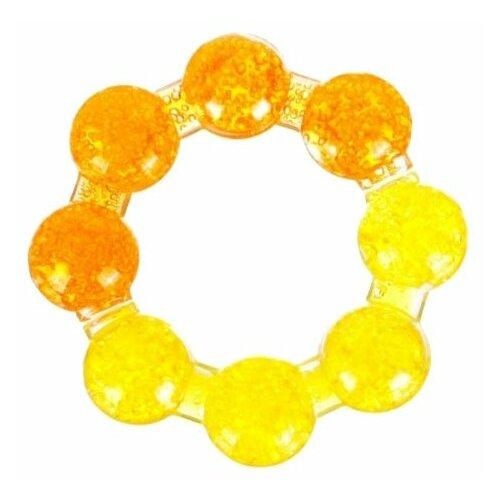 Прорезыватель Бусинка Кольцо желтый/оранжевый.