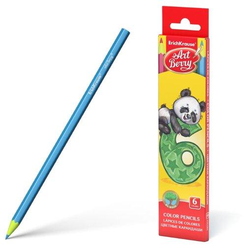 ErichKrause Цветные карандаши ArtBerry 6 цветов (47176) erichkrause пластиковые цветные карандаши шестигранные artberry 18 цветов 46429