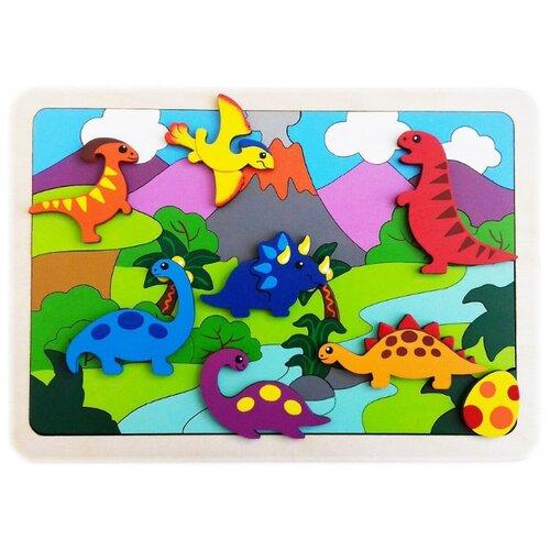Купить Рамка-вкладыш Крона Динозаврики (143-079), 47 дет., Пазлы