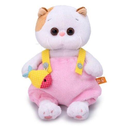 Мягкая игрушка Basik&Co Кошка Ли-Ли baby в меховом комбинезоне 20 см, Мягкие игрушки  - купить со скидкой