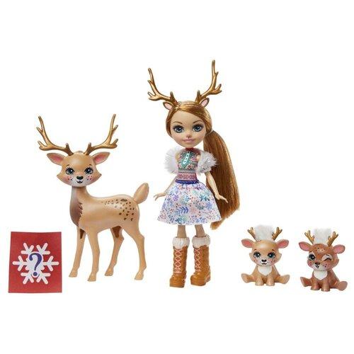 Купить Кукла Enchantimals Reindeer Family Рейни Северная Оленни и семья GNP1, Куклы и пупсы