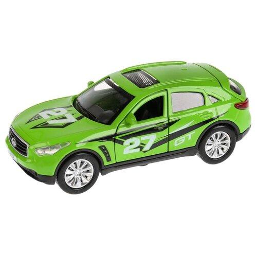 Купить Легковой автомобиль ТЕХНОПАРК Infiniti QX70 Спорт (QX70-S-SL) 12 см зеленый, Машинки и техника