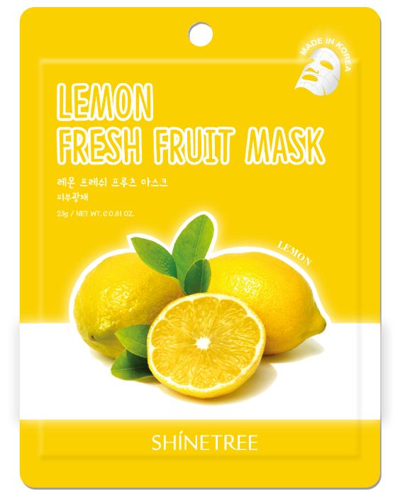 Shinetree Тканевая маска Fresh Fruit с экстрактом лимона