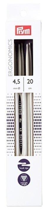 Спицы Prym чулочные Ergonomics диаметр 4 мм, длина 20 см