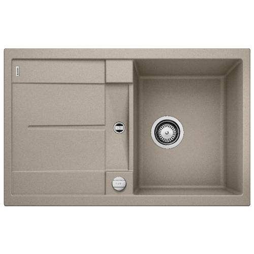 Врезная кухонная мойка 78 см Blanco Metra 45S серый беж врезная кухонная мойка 78 см blanco metra 45s 525311 бетон